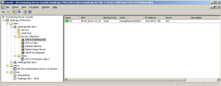VanBragt Net Virtualization - Citrix Provisioning Server 5 Beta2